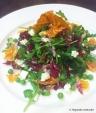 Arugula Radicchio Salad Peas Orange