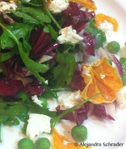 Arugula Radicchio Salad by Chef Alejandra Schrader